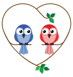 valentine girl and boy vector image