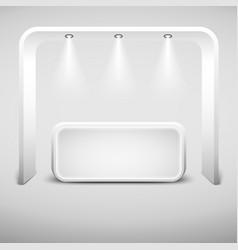 white creative exhibition stand design empty vector image