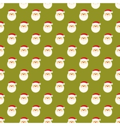Abstract Christmas Santa Clause face pattern vector image
