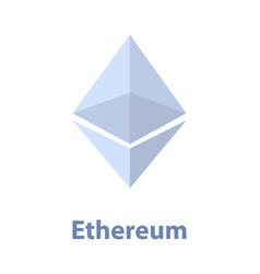 ethereum symbol blue chrystal vector image vector image