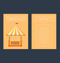 Fest tent with beer and food collection of posters vector