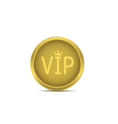 golden vip icon vector image