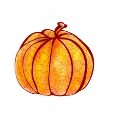pumpkin polygonal design vector image