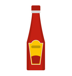 traditional tomato ketchup bottle icon isolated vector image vector image