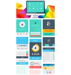 UI is a set components featuring the flat design vector image