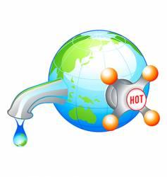eco water icon vector image