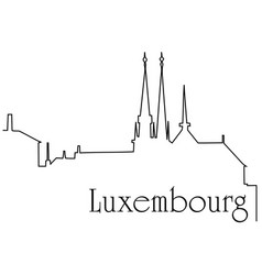 luxembourg city one line drawing background vector image vector image