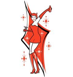 Pin up she devil vector image