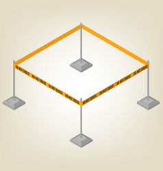 warning tape for fencing isometric vector image vector image