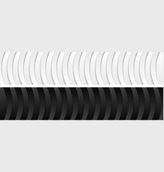 abstract corporate black and white wavy banners vector image vector image