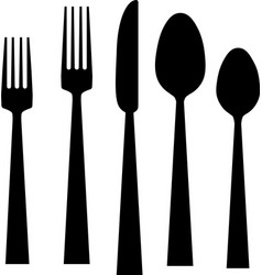 fork knife spoons vector image vector image