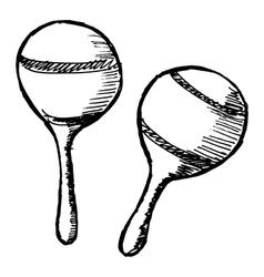 maracas vector image vector image