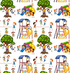 Seamless background with children in the vector image vector image