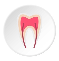 Tooth nerve icon flat style vector image