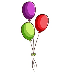 A simple sketch of the balloons vector image