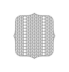 Line quadrate with pattern graphic seamless vector