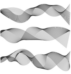 multiple waves abstract wavy stripes vector image