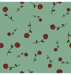 Roses seamless pattern Sketch design elements vector image vector image