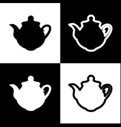 tea maker kitchen sign black and white vector image