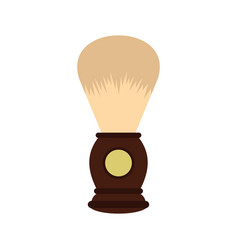 wooden shaving brush icon flat style vector image