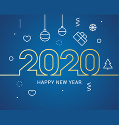 2020 new year design happy logo calendar vector image