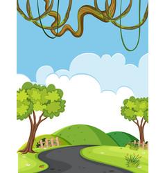 A natural road landscape vector