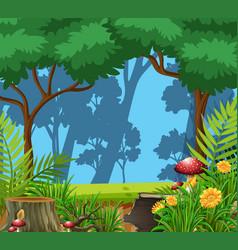 a nature green landscape vector image
