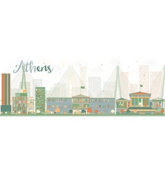 Abstract Athens Skyline with Color Buildings vector