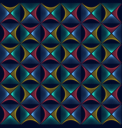 abstract colorful rhombus wave lines background vector image