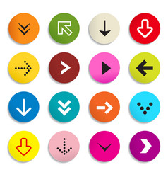Arrows colorful arrow in circle set of symbols vector