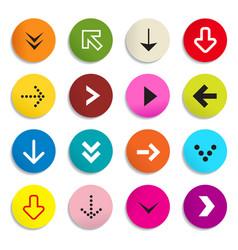 Arrows colorful arrow in circle set symbols vector