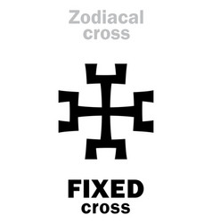 Astrology fixed cross vector