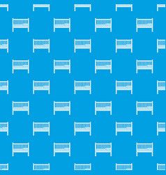 baby bed pattern seamless blue vector image