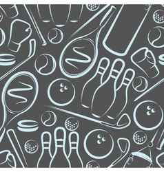 Background with sport items seamless pattern vector