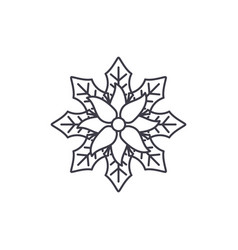 baneberry line icon concept baneberry flat vector image