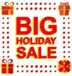 Big winter sale poster with BIG SALE text vector image