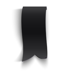 Black realistic curved paper banner vector image