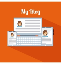 blog template design vector image