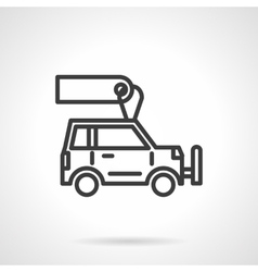 Car store black line design icon vector image