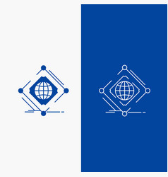 Complex global internet net web line and glyph vector