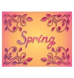 Creative spring card design vector