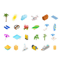 cruise ships travel and tourism concept icons set vector image
