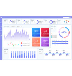 dashboard great design for any site purposes vector image