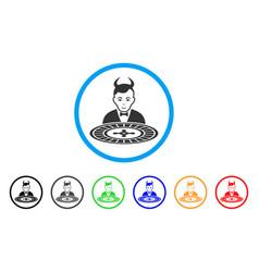 Devil roulette croupier icon vector