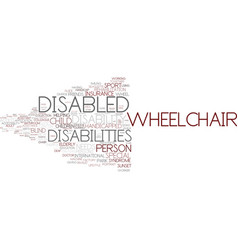 Disabilities word cloud concept vector