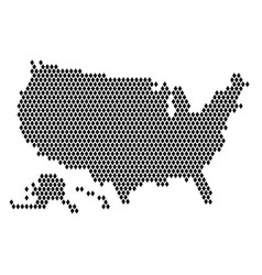 dot map united states america vector image