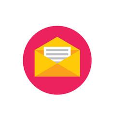 e-mail message letter - concept colored icon vector image