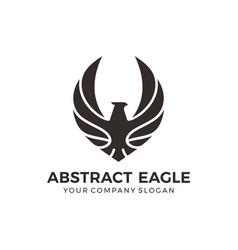 eagle falcon bird logo design vector image