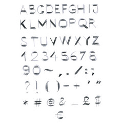 English unique hand drawn alphabet lettering vector