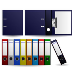 files and folders ring binder set of multiple vector image